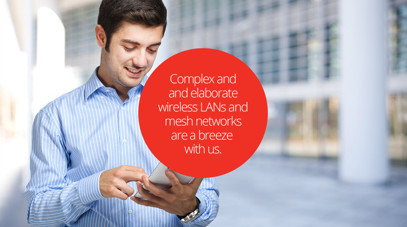 Complex and elaborate wireless LANs and mesh networks are a breeze with Jeanneret Electrical Technologies.